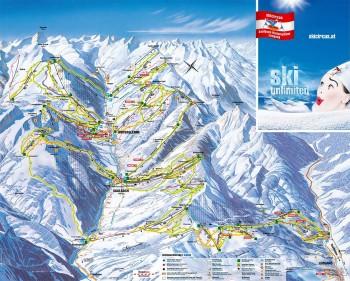 Pistenplan für Saalbach-Hinterglemm-Leogang