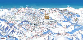 Pistenplan für Ski Arlberg