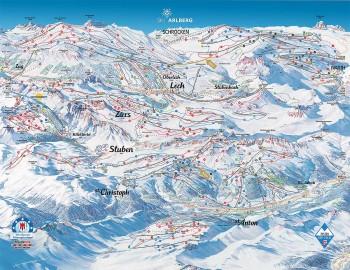 Pistenplan für St. Anton am Arlberg