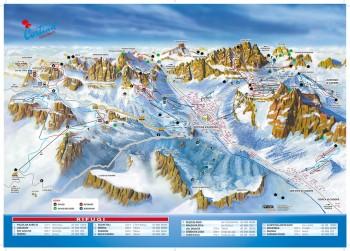 Pistenplan für Cortina d'Ampezzo