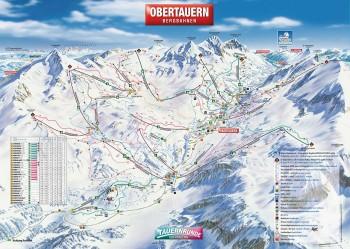 Busreisen nach Obertauern - Skigebietsplan