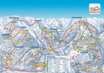 Pistenplan für Zillertal-Arena