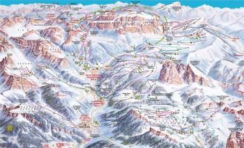Pistenplan für Sella Ronda (Val Gardena - Gröden)