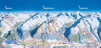 Pistenplan für Davos (linke Talseite)