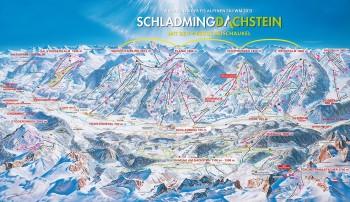 Pistenplan für Schladming-Dachstein