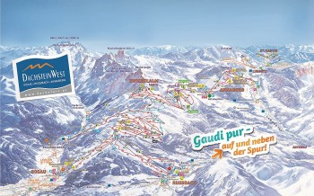 Busreisen nach Dachstein West - Skigebietsplan