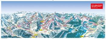Busreisen nach Flachau & Wagrain St Johann -Alpendorf - Skigebietsplan
