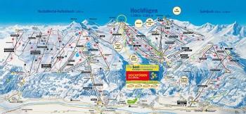 Busreisen nach Hochfügen - Skigebietsplan