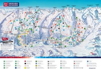 Pistenplan für Obergurgl-Hochgurgl