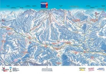 Busreisen nach Kronplatz - Skigebietsplan