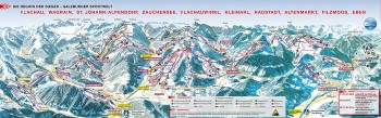 Pistenplan für Zauchensee - Ski Amadé