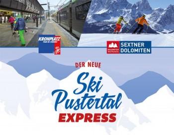 """Der neue """"Ski Pustertal Express"""" verbindet die Skiregionen """"Kronplatz"""